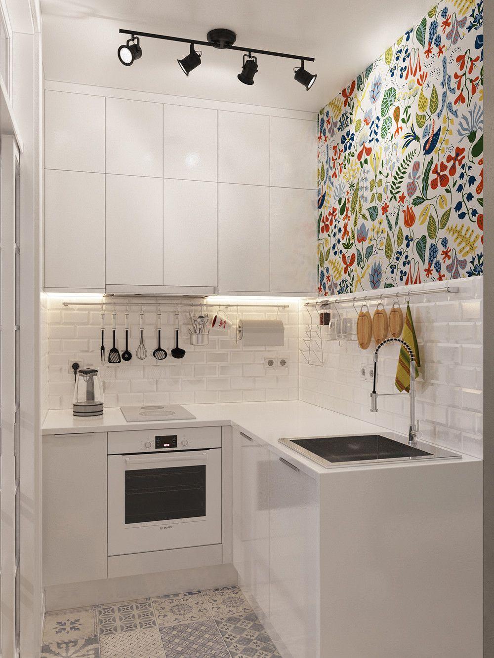 دکوراسیون آشپزخانه کوچک - استفاده از رنگ سفید