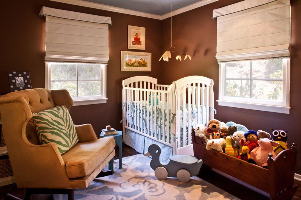 رنگ اتاق نوزاد - قهوه ای