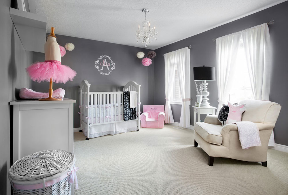 رنگ اتاق نوزاد - طوسی