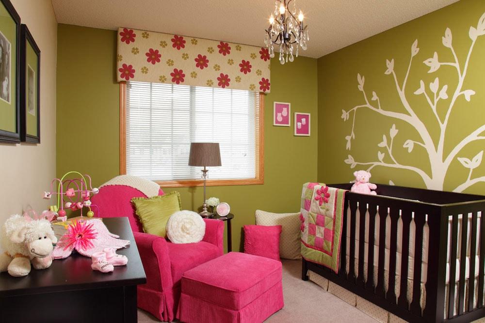 رنگ اتاق نوزاد - سبز
