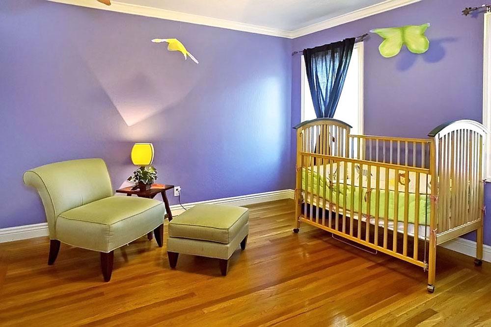 رنگ اتاق نوزاد - بنفش