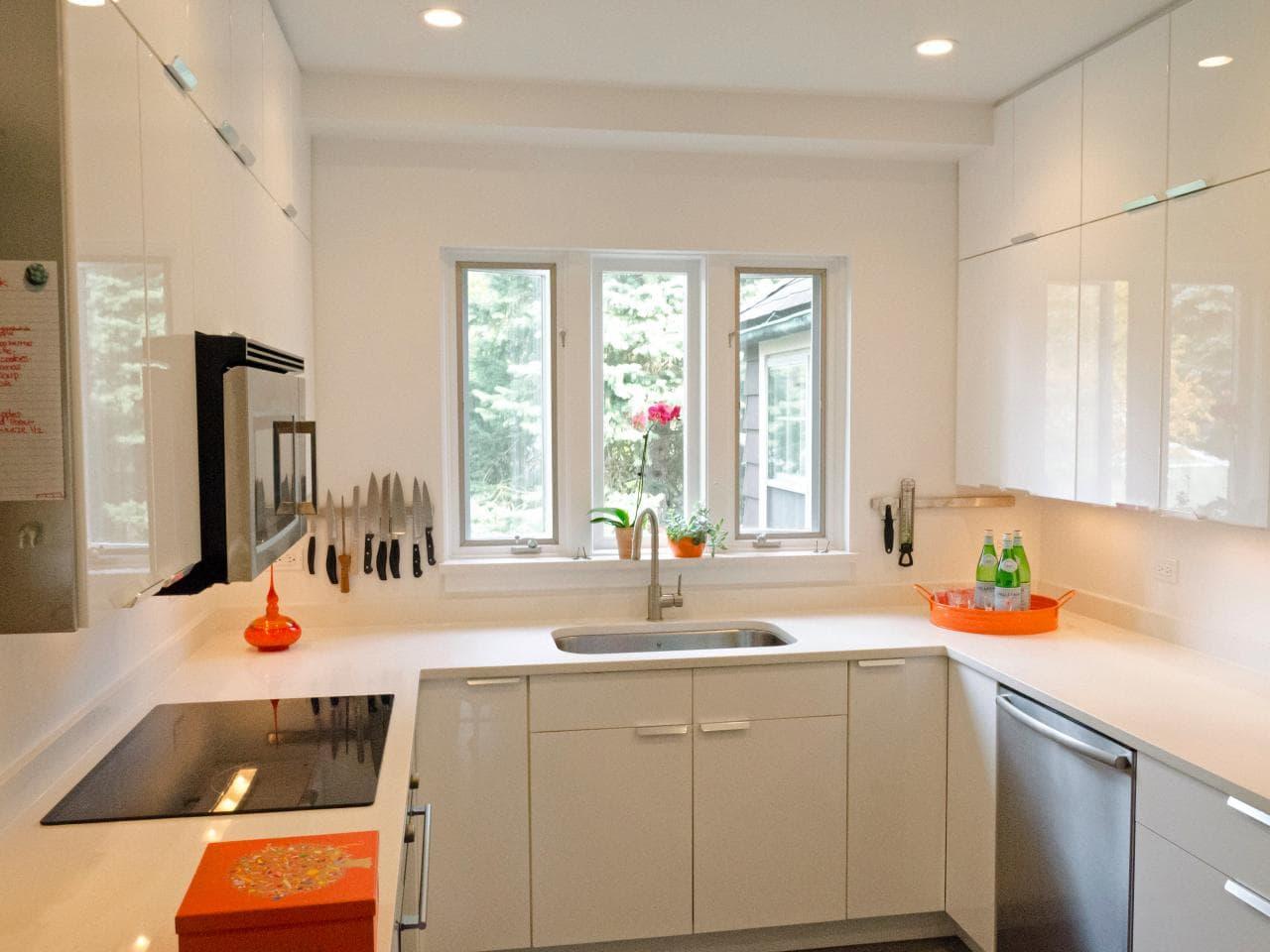 دکوراسیون آشپزخانه کوچک - نورپردازی آشپزخانه کوچک