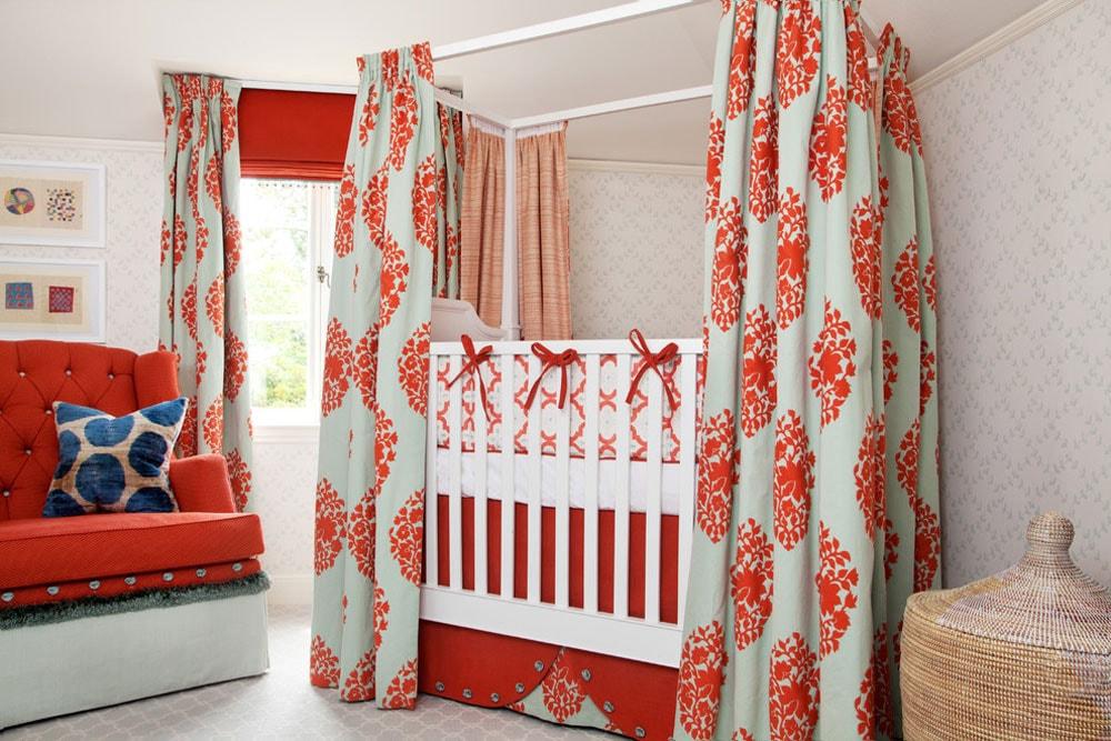 رنگ اتاق نوزاد - نارنجی