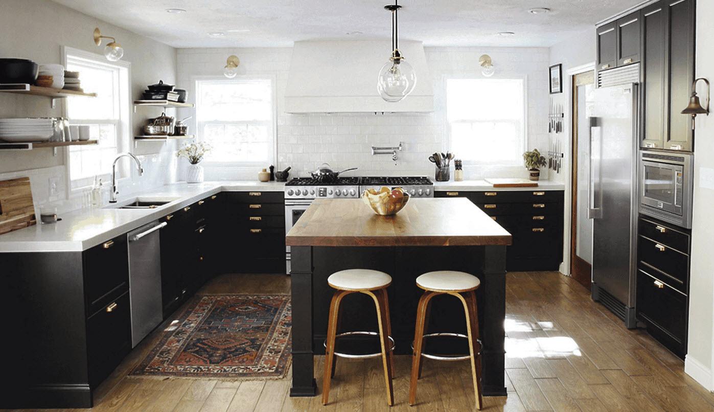 آشپزخانه سیاه و سفید