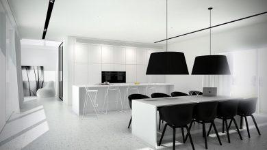Photo of آشپزخانه سیاه و سفید