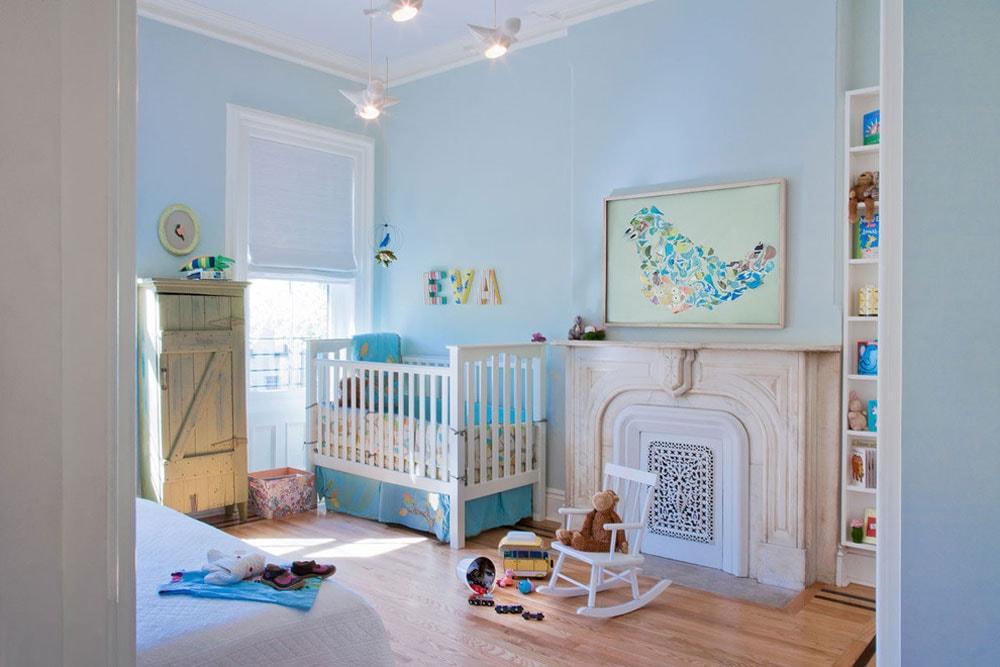 رنگ اتاق نوزاد - آبی