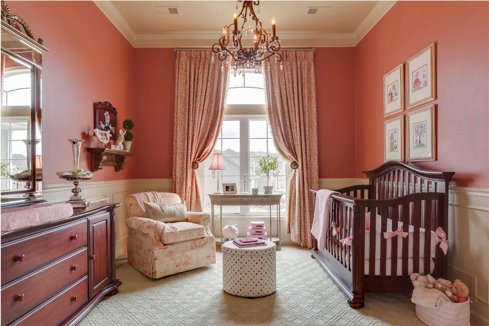 رنگ اتاق نوزاد - گلبهی