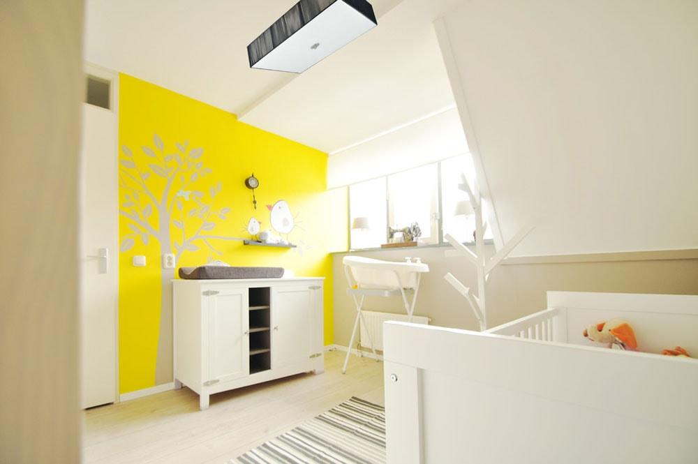 رنگ اتاق نوزاد - زرد