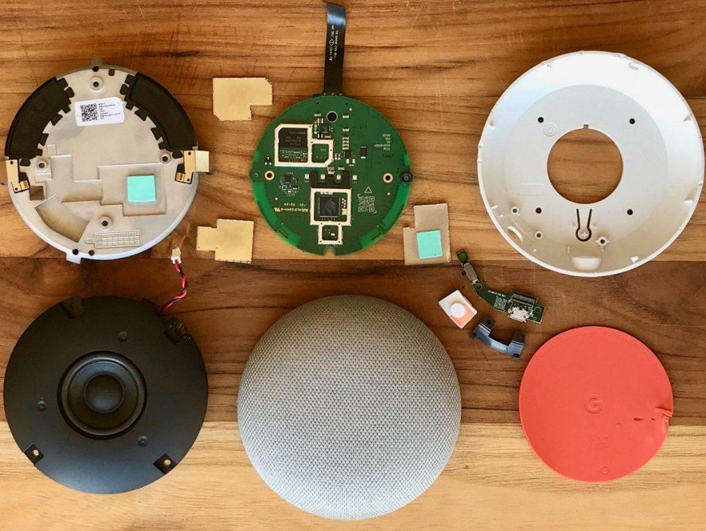 اجزای داخلی Google Home Mini