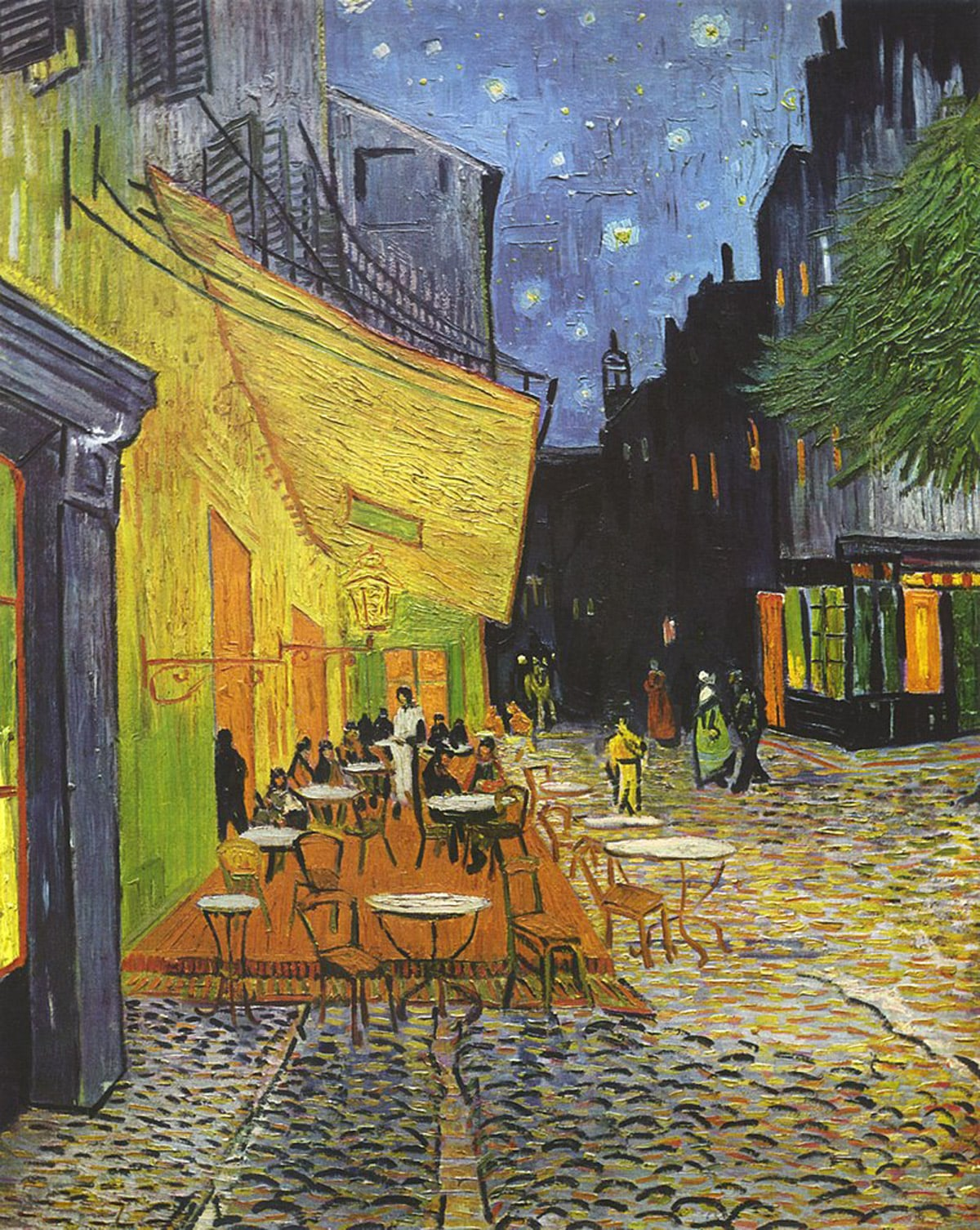 cafe traace at night