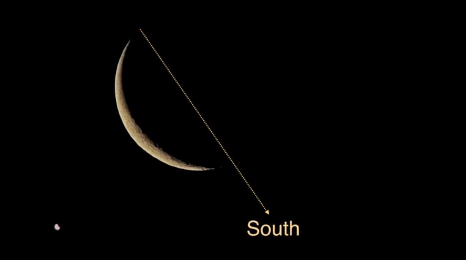 جهت یابی به کمک هلال ماه