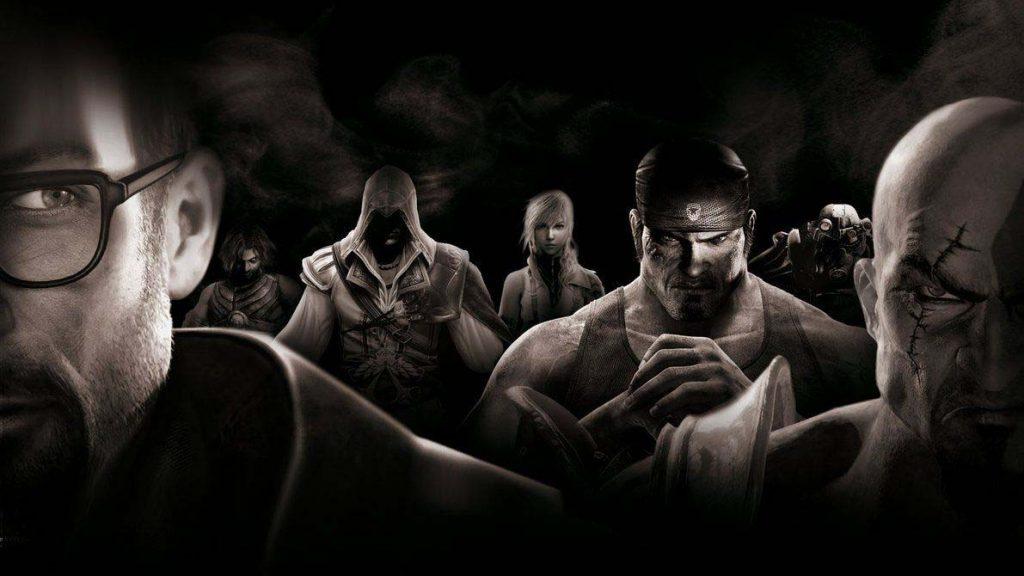 اصطلاحات گیمینگ: شخصیت تعدادی از بهترین بازی های تاریخ از راست به ترتیب: کریتوس (God of War) - لباس پاور آرمور (Fallout) - مارکوس فنیکس (Gears of War) - لاتنینگ (Final Fantasy) - اتزیو (Assassin's Creed) - پرینس (Prince of Persia) - گوردون فریمن (Half Life)