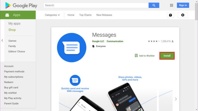 ارسال پیام از طریق ویندوز 10