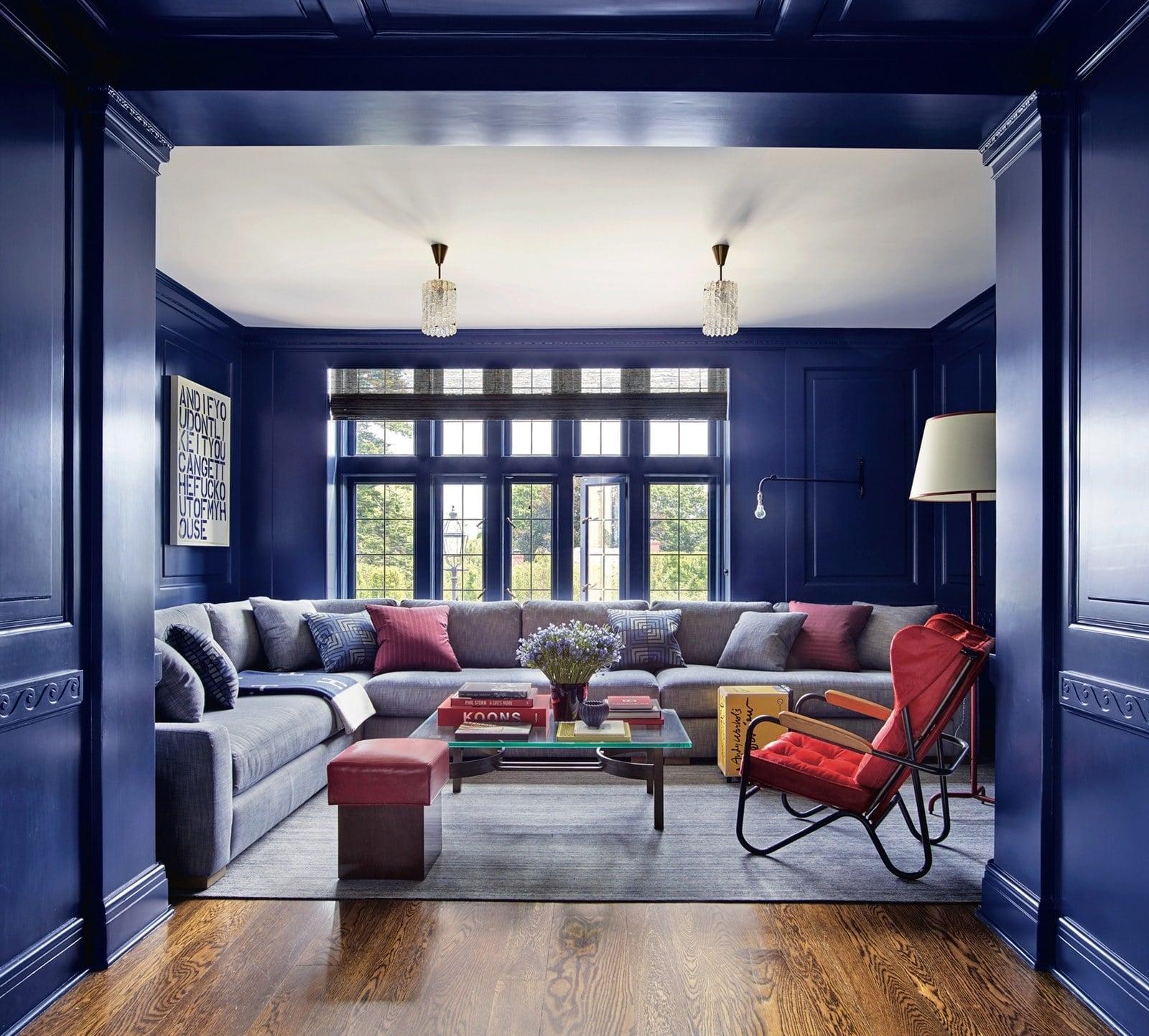 دکوراسیون خانه با آبی کلاسیک