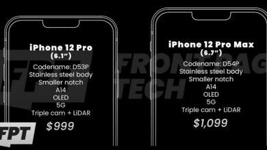 Photo of قیمت سری iPhone 12 فاش شد؛ هنوز خبری از مدل رده بالای ۵G نیست