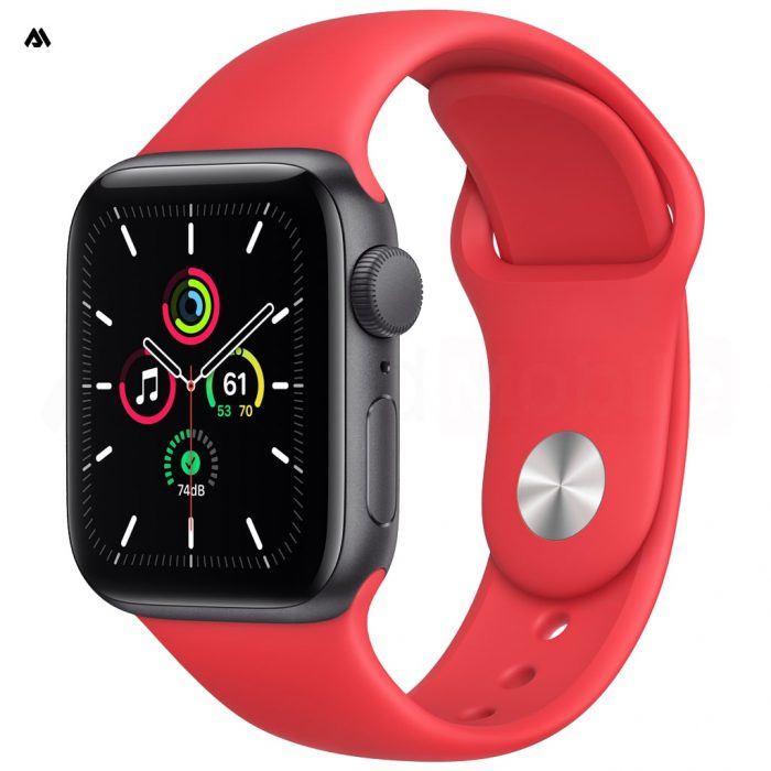 ساعت هوشمند اپل واچ سری 6 با قاب خاکستری و بند ورزشی