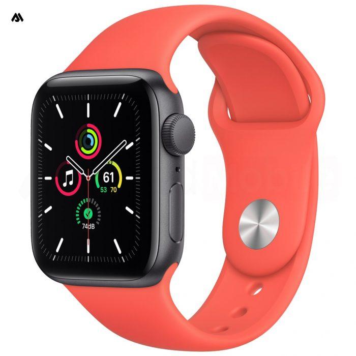 ساعت هوشمند اپل واچ مدل SE با قاب خاکستری و بند ورزشی 44 میلیمتر