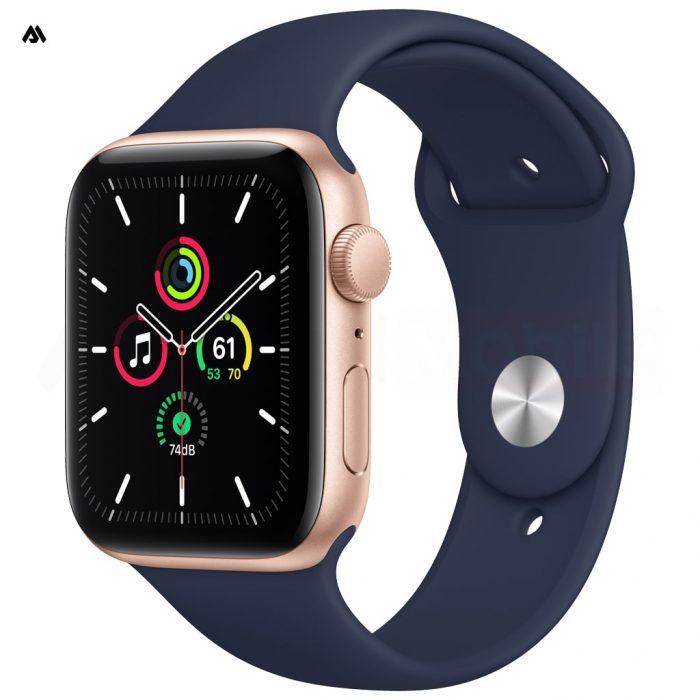 ساعت هوشمند اپل واچ سری 6 با قاب طلایی و بند ورزشی